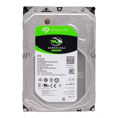 Hd 3tb Seagate Barracuda Sata 5400rpm 3tera 64mb Pc Novo