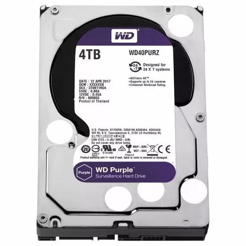 Hd 4tb Purple Sata 3 Western Intelbras Wd Cftv Dvr Wd40purz
