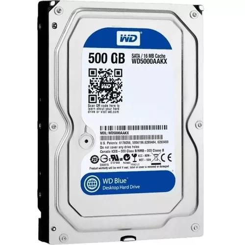 Hd 500gb - Sata - Wd Blue - Pc - Novo Lacrado - Original