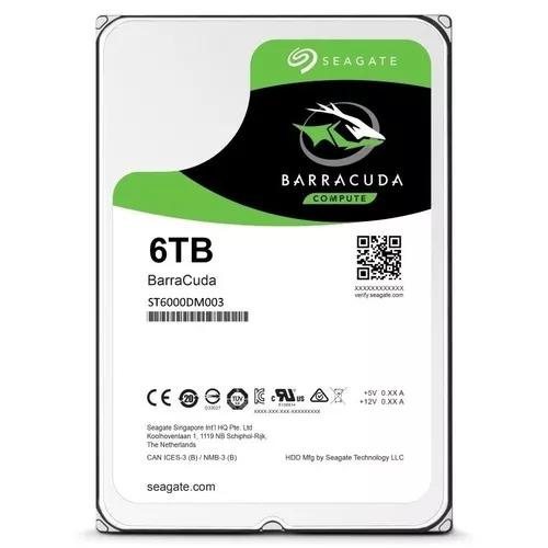 Hd 6tb Barracuda Seagate Sata 3 5400rpm 6gb/s 256mb Cache