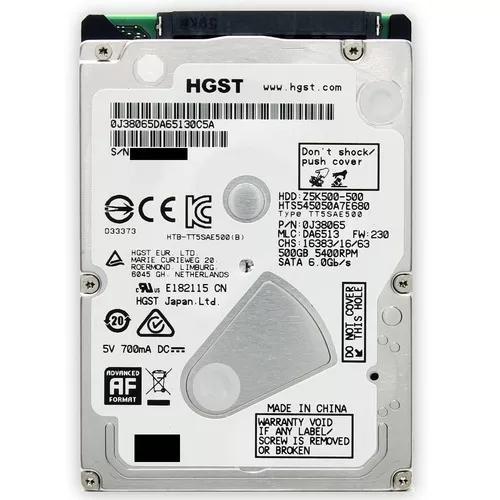 Hd Notebook 500gb Sata 3 Hitachi Hgst Slim 5400rpm - Novo