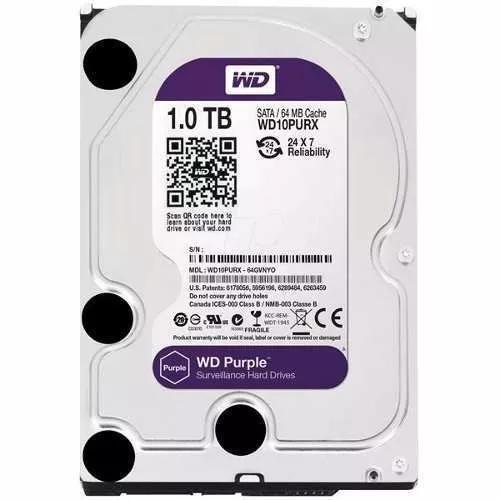 Hd Sata3 1tb Western Digital Wd Purple Wd10purz 5400rpm 64m