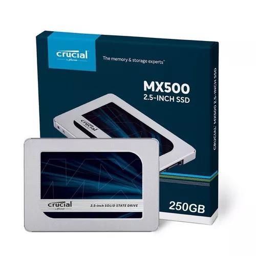 Hd Ssd 250gb Crucial Sata 3.5 Mx500 Ct250mx500ssd1