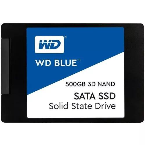 Ssd 500gb Wd Blue 2.5 Sata 3 Leitura: 560mb/s 3d Nand