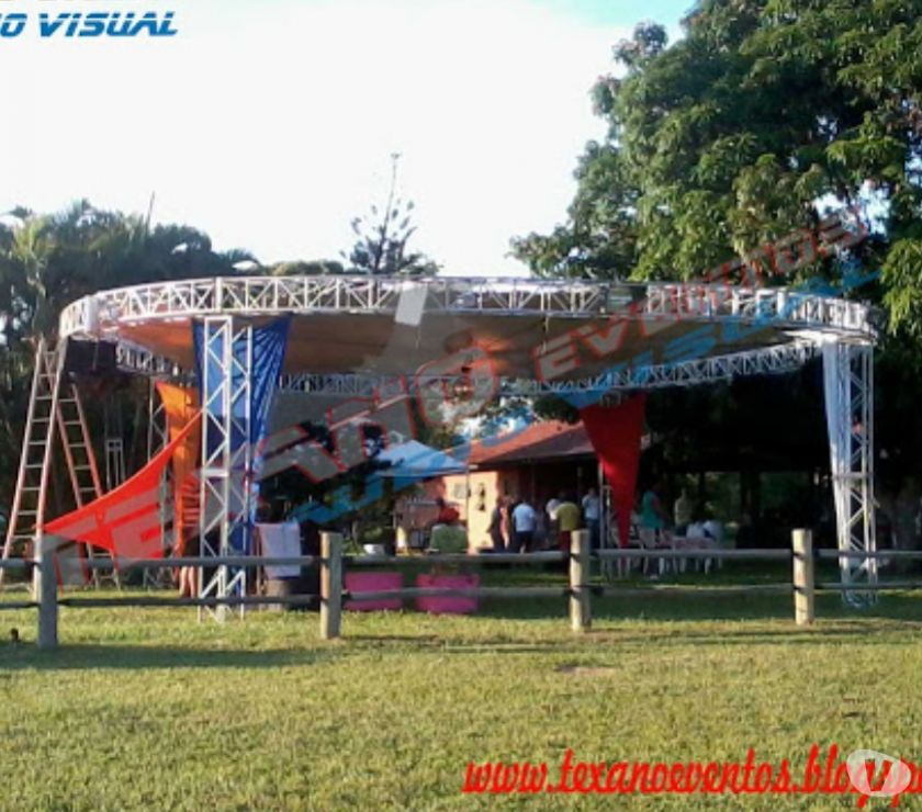 Tenda Circus redonda em Box Truss R$