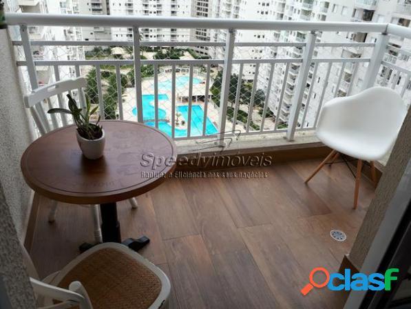 Apartamento em Santos 2 dormitórios, 2 vagas, lazer