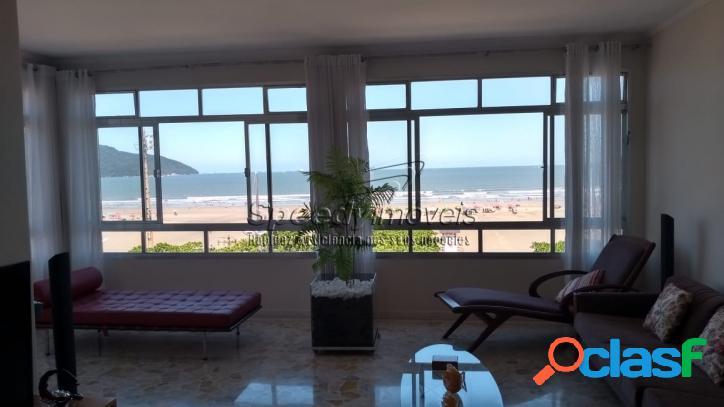Apartamento no Litoral, orla da praia, com vista mar.