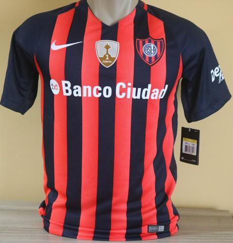 Camisa San Lorenzo  com Pacths Libertadores