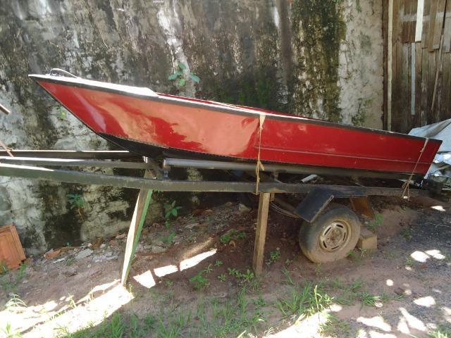 Carretinha barco e motor (barato)