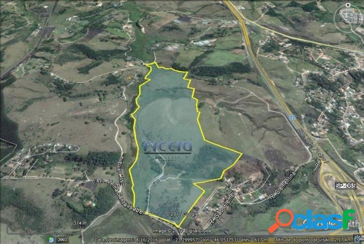 Área 560.600 m² em Jacareí - Estuda Incorporação 75%