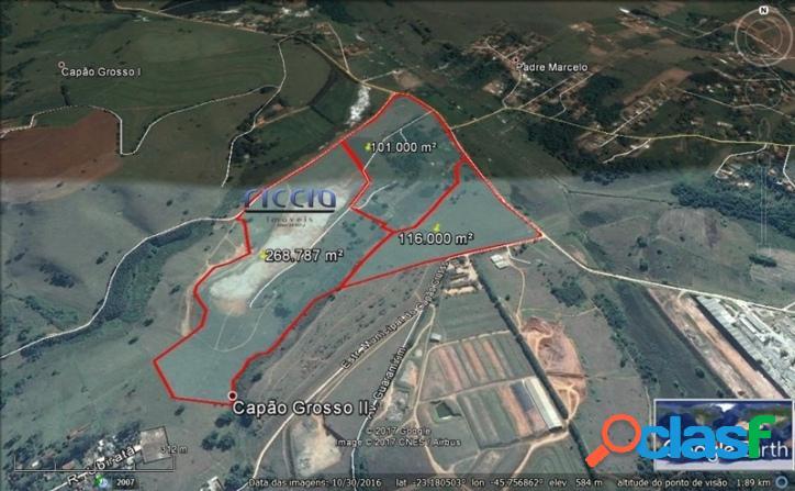 Área Industrial 485.787 m² em SJCampos - R$ 35,00 o m²