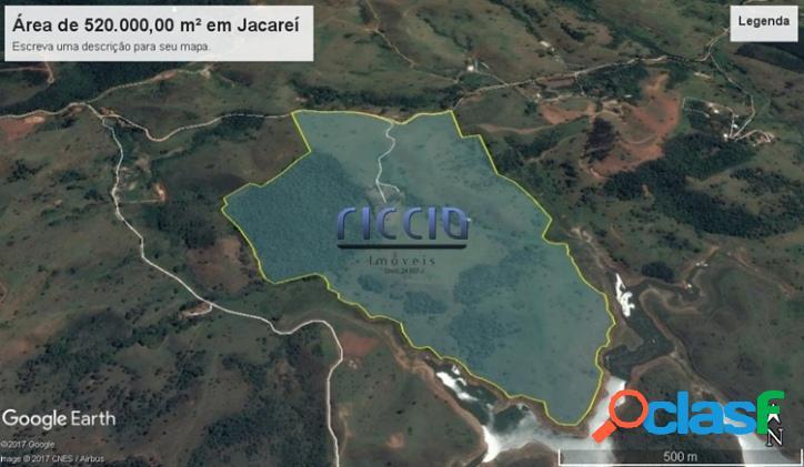 Área Rural de 520.000 m² em Jacareí - SP