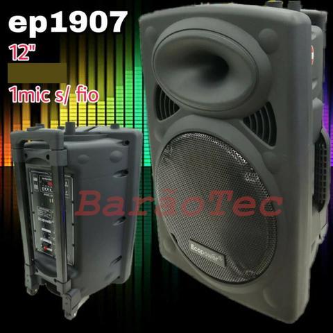 Caixa De Som Amplificada Ecopower EP- - Bluetooth USB 1