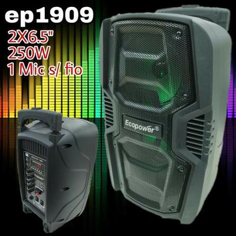 Caixa De Som Potente Ecopower Ep- Bluetooth USB