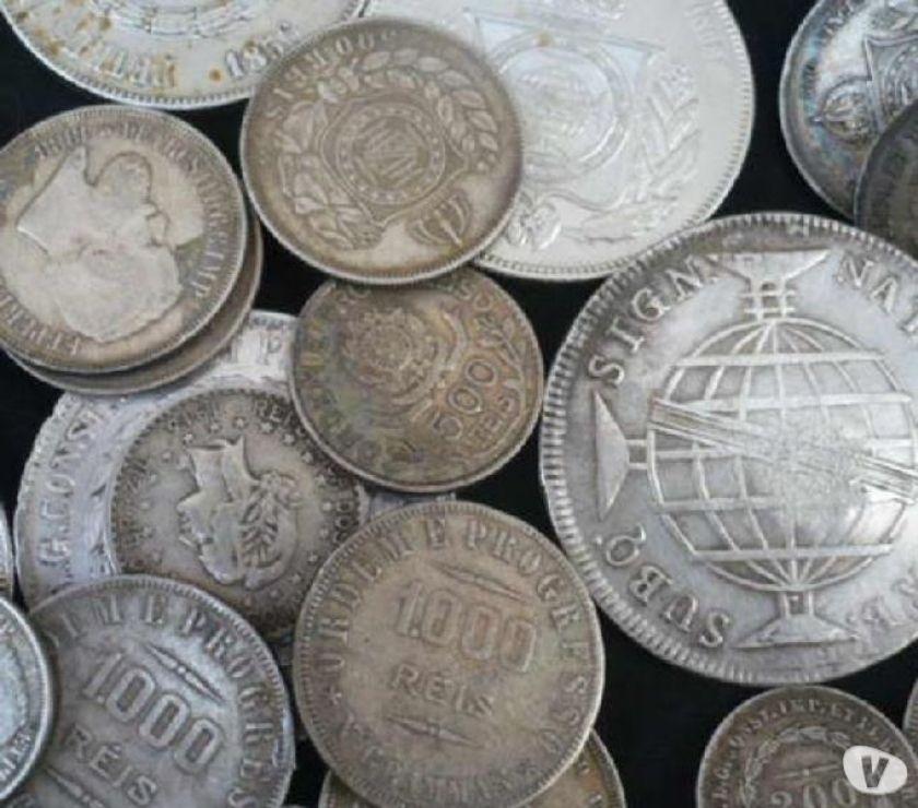 Compramos moedas de prata anteriores ao ano  R$ o Kg