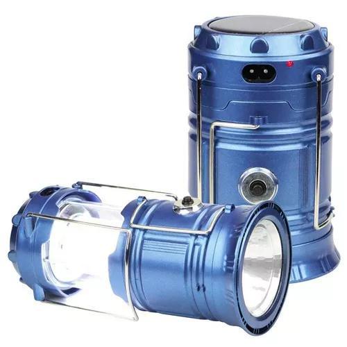 Kit 10 X Lampiao Lanterna Energia Solar Led Recarregavel