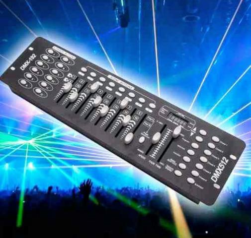 Mesa Iluminação Dmx 512 Controladora Cor E Movimento