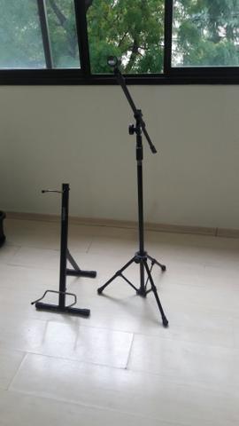 Suporte de Violão + Pedestal de Microfone