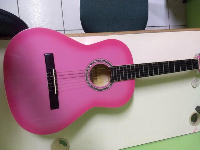 Violão Giannini estudo rosa