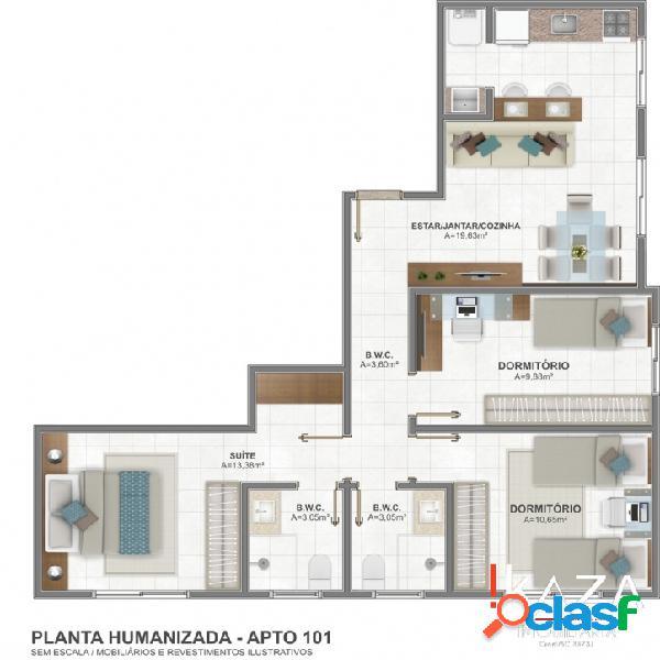 Gralha Azul - 2 Dormitórios - Forquilhinhas - São José