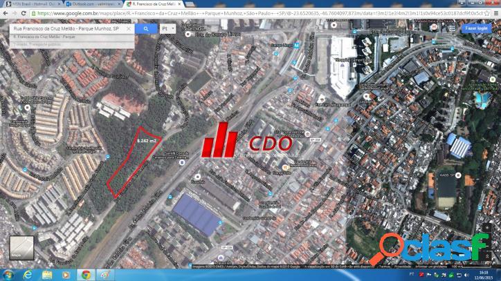 Terreno 8.242 m2 / atual: ZM, Horto do YPÊ, Campo limpo SP