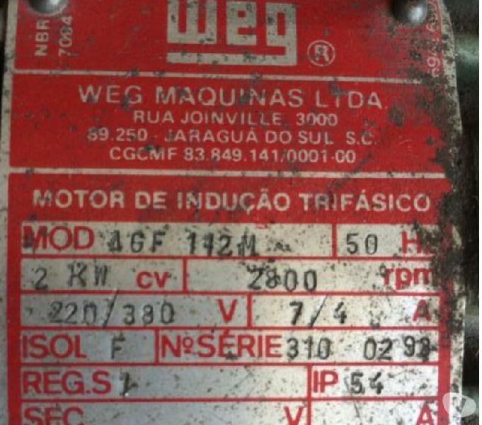 gerador weg modelo bta 225
