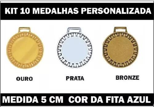 Kit 10 Medalhas 5cm Personalizadas Pr