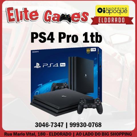 PS4 PRO 1tb novo com 1 ano de garantia (loja fisica)