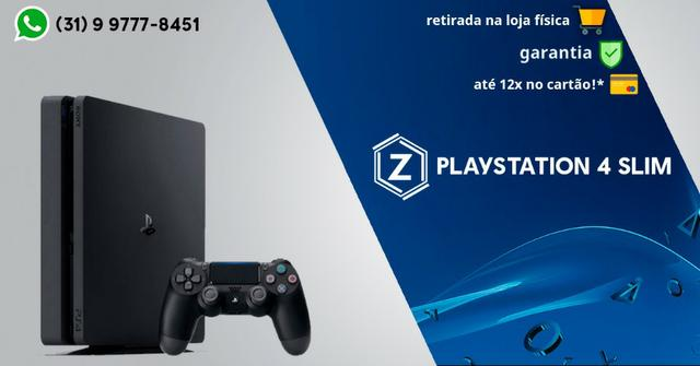 PS4 PlayStation 4 Slim - Loja Física Garantia - 12x cartão