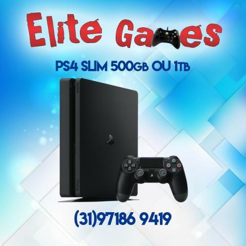 Playstation 4 slim 500GB + 1 controle Garantia 1 ANO
