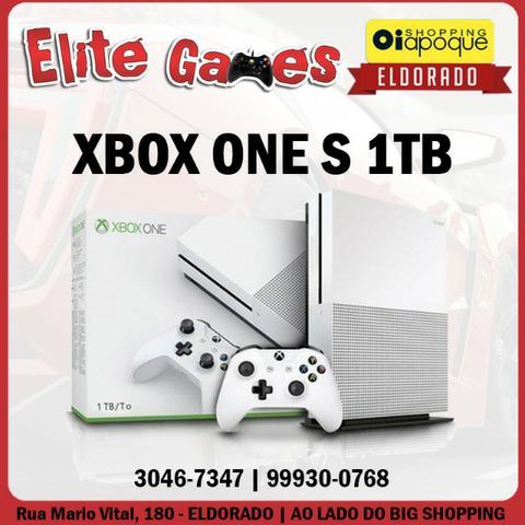 Xbox One S de 1TB com 1 ano de garantia (loja fisica)
