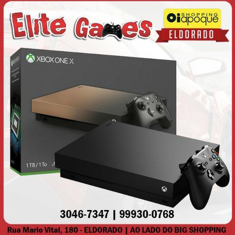 Xbox One X de 1TB com 1 ano de garantia (loja fisica)