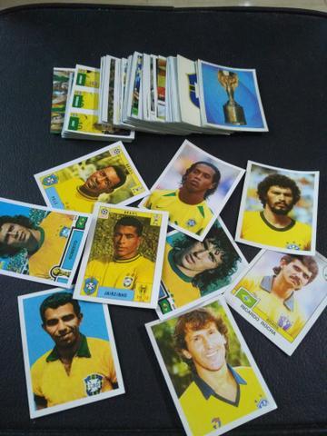 Figurinhas Brasil de todas as Copas