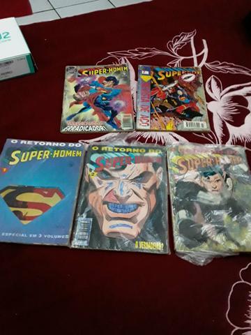 Raridade colecao o retorno do super homem em 3 volumes