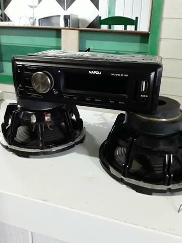 Vendo um rádio com pendraive e um par de alto falante de