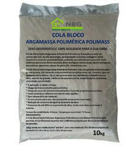 Cola Bloco/Tijolo Massa Polimérica Polimass saco 10kg +