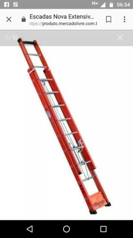 Escada de fibra na promoção