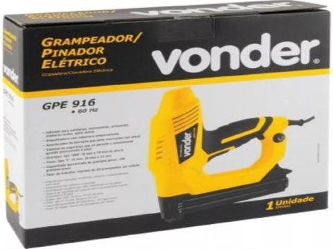 Grampeador E Pinador Elétrico Vonder 220 V + Grampos