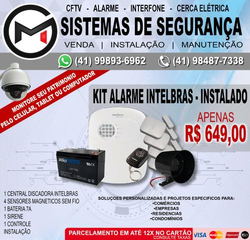 Kit Alarme Intelbras 4 sensores Instalado