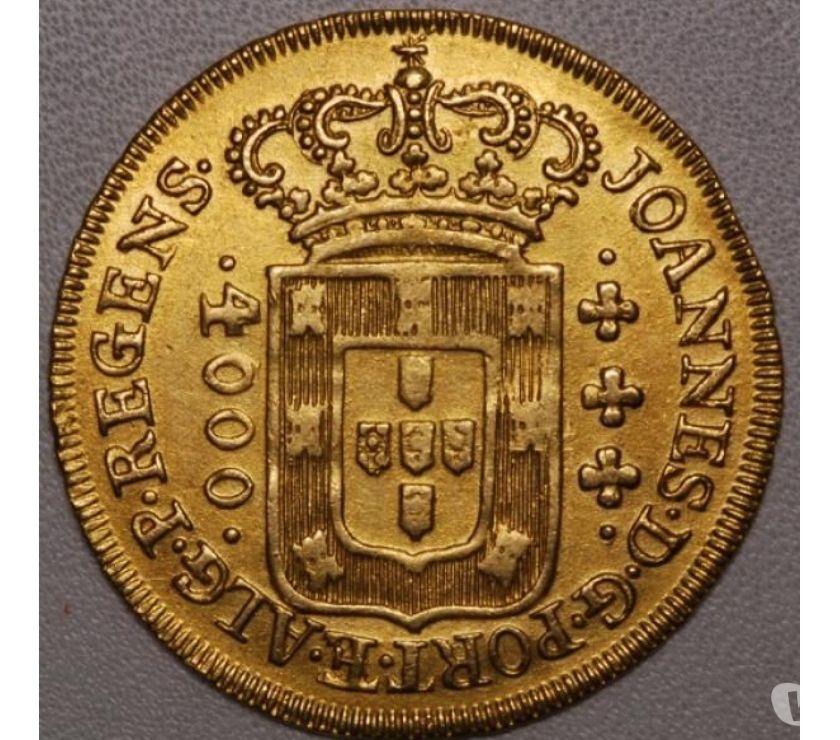 Moedas antigas de ouro estrang. e bras. a partir de R$600