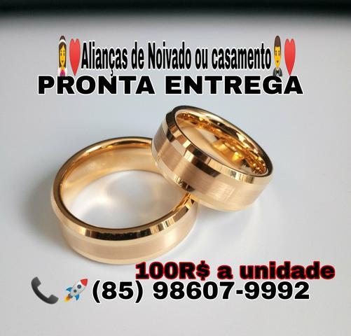 Alianças de Noivado e Casamento + Caixinha e Certificado de