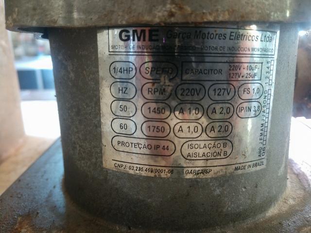 Motor elétrico para portão GME 1/4hp speed