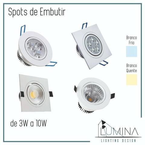 Spot direcional e Plafon de LED