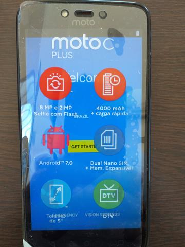 Celular Motorola moto c Plus c/TV 16gb 1gb RAM semi novo NF