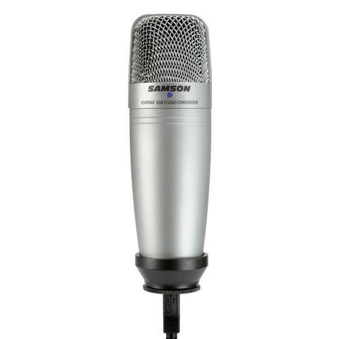 Microfone Samson C01 USB incluso shockmount e pop filter