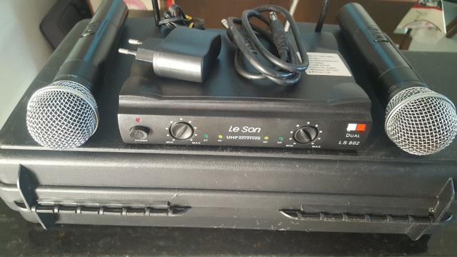 Microfone sem fio SM581 Leson LS 802 DUAL