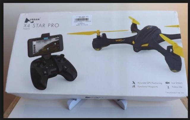 Drone hubsan com gps e camera hd. troco em celular