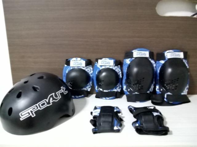 Kit proteção infantil skate e patins