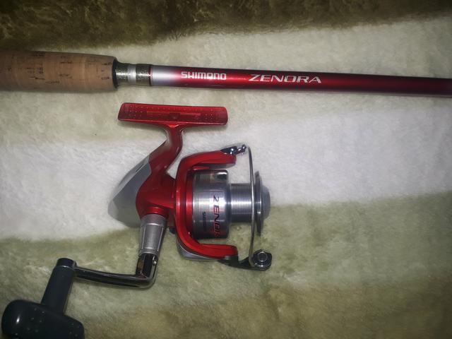 Molinete e vara de pesca