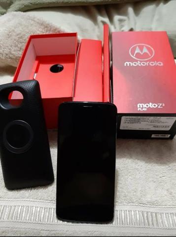 Moto Z3 Play + Snap Som Completo e impecável